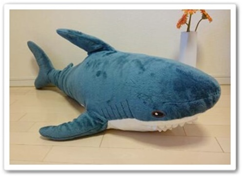 ikeaのサメの人形が話題!大きさや値段は?洗濯できるって本当?