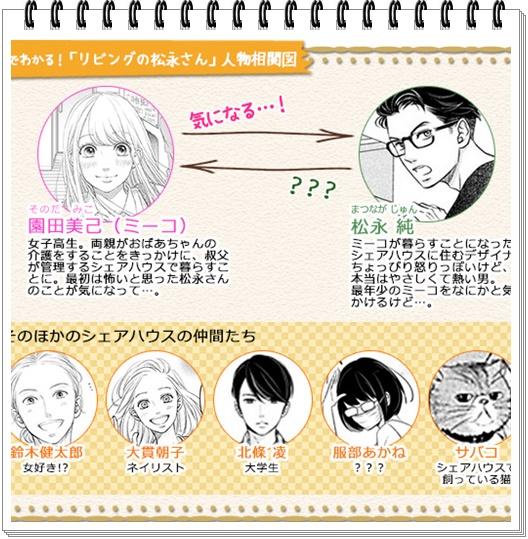 リビングの松永さんの登場人物がカッコいい?アニメや実写化の声も! 相関図